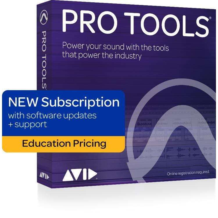 Industrie Music,Avid Pro Tools 2018 with 1-Year of Updates + Support Plan Teachers/College Student 1-Year Subscription (download)