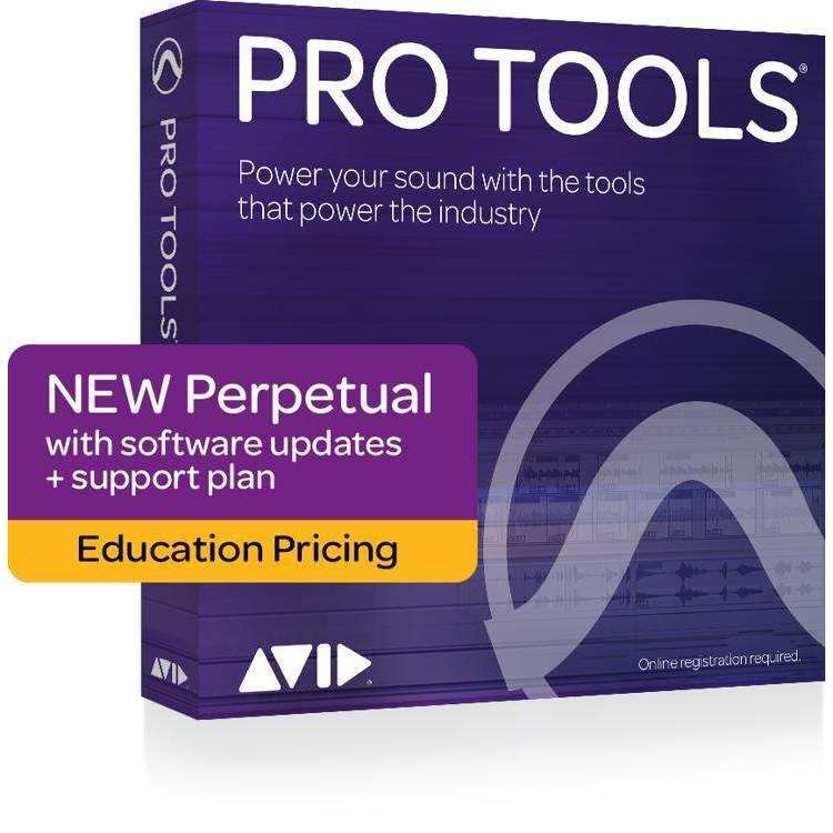 Industrie Music,Avid Pro Tools 2018 with 1-Year of Updates + Support Plan Teachers/College Student Perpetual License (download)