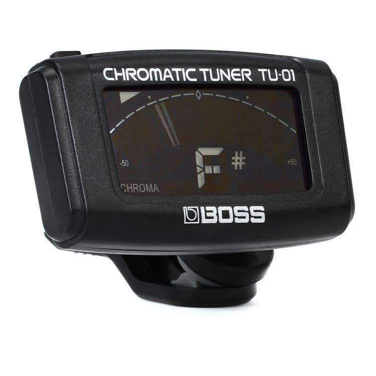Boss Boss TU-01 Clip-on Chromatic Tuner - Black - Industrie Music