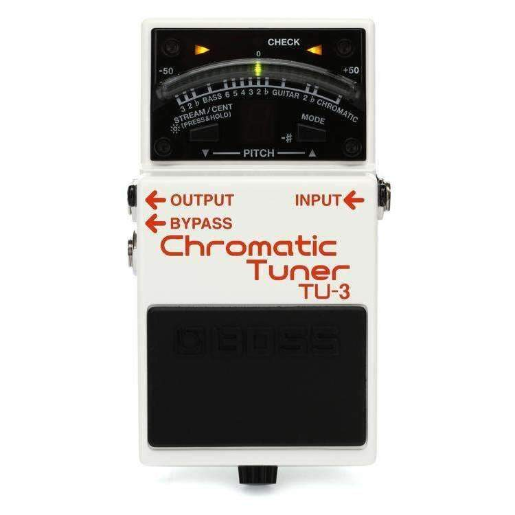 Industrie Music,Boss TU-3 Chromatic Tuner Pedal with Bypass