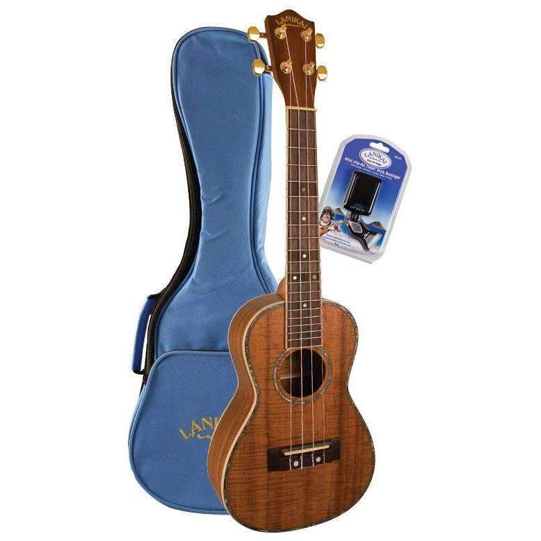 Industrie Music,Concert Ukulele Lanikai Koa Series Includes Ukulele, Bag and Tuner
