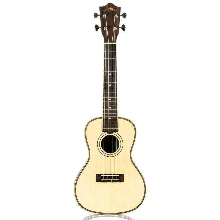 Concert Ukulele Lanikai Solid Spruce Top Series Natural Satin Finish Ukulele Concert Lanikai