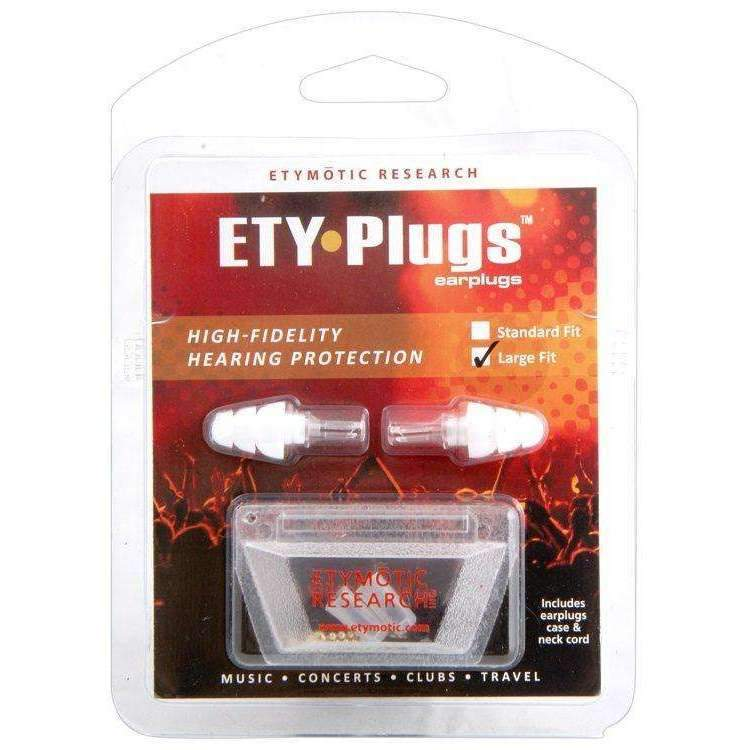 Etymotic Research ETY Plugs High Fidelity Earplugs - Large Fit Hearing Protection Etymotic