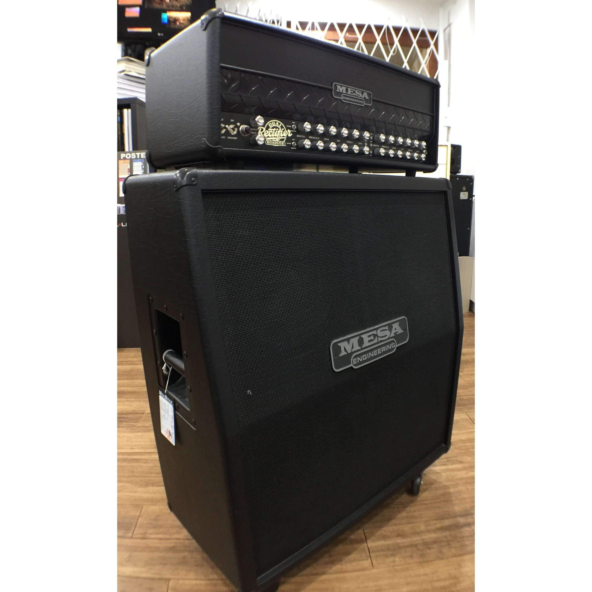 Industrie Music,Mesa Boogie Dual Rectifier Roadster 100Watt Head & 4x12 Slant Cab