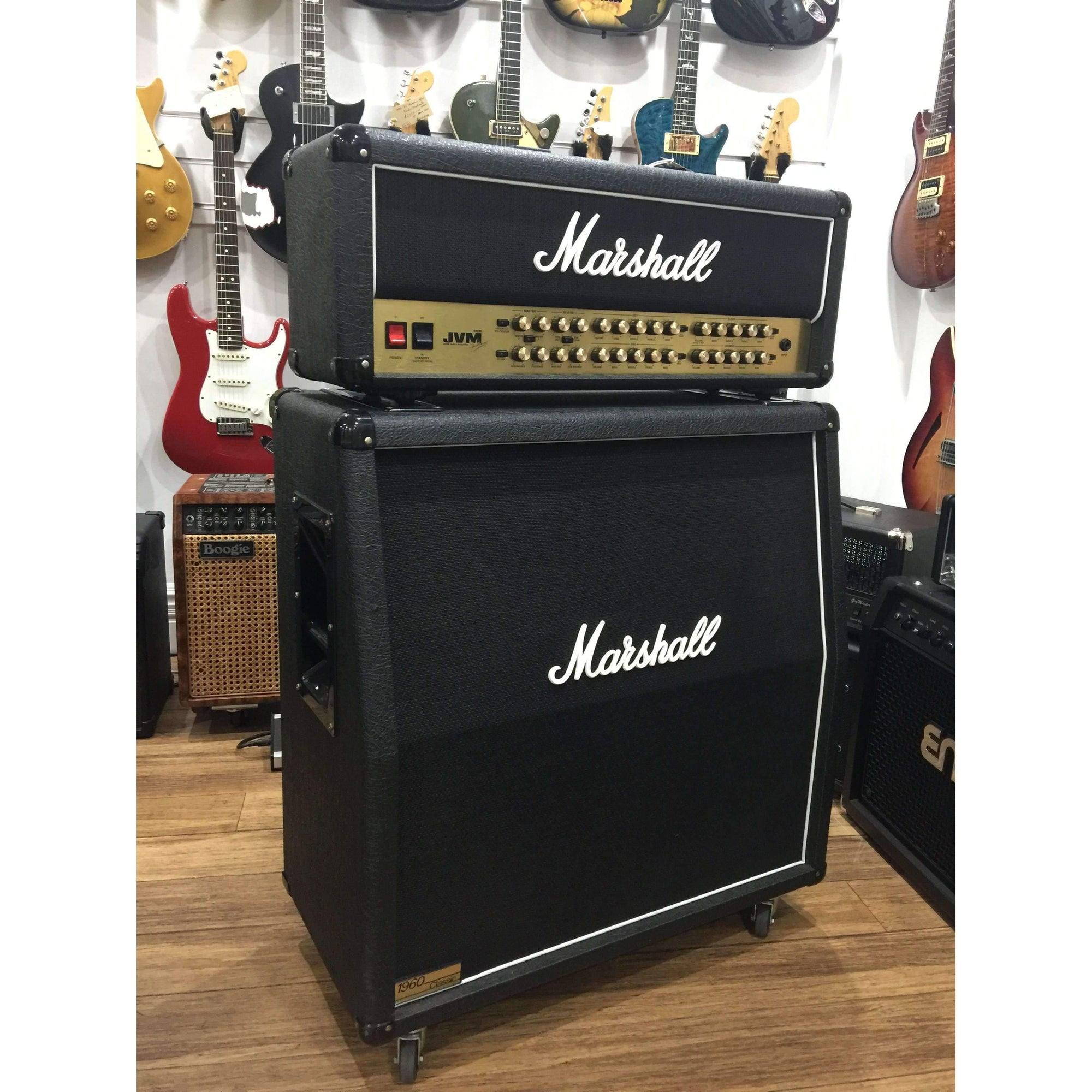 Used Marshall JVM410H 100W Valve Head & 1960AC & 4x12 Slant Cab Used Gear Marshall