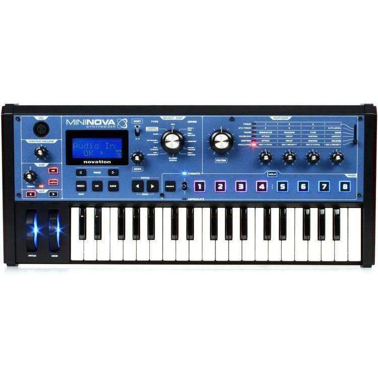 Industrie Music,Novation MiniNova 37-Key Synthesizer with Vocoder