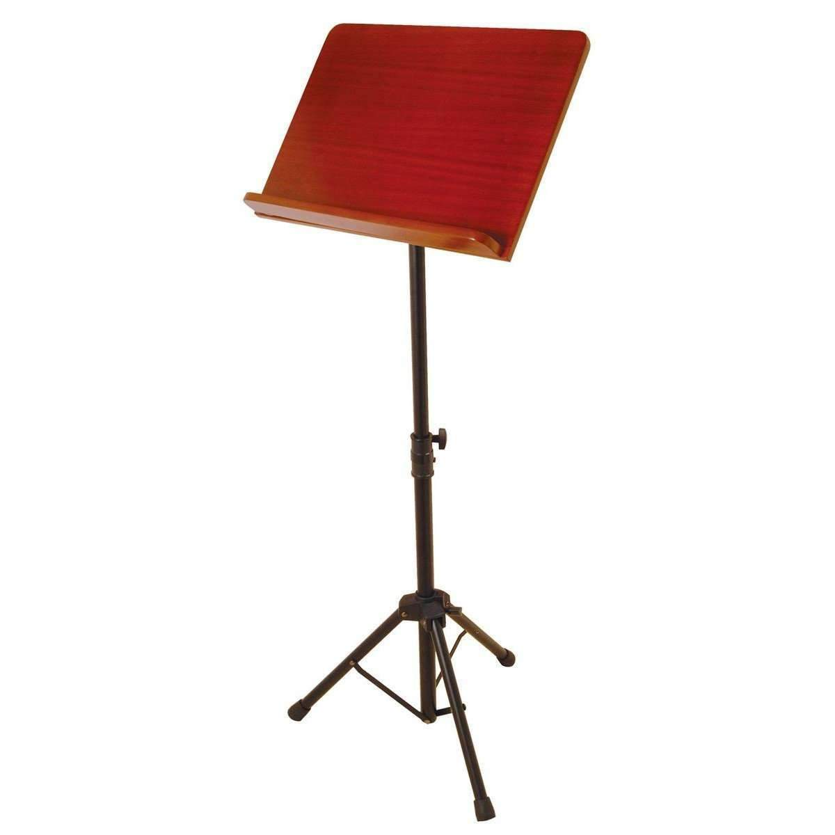Industrie Music,On Stage Pro Music Stand with Rosewood Bookplate