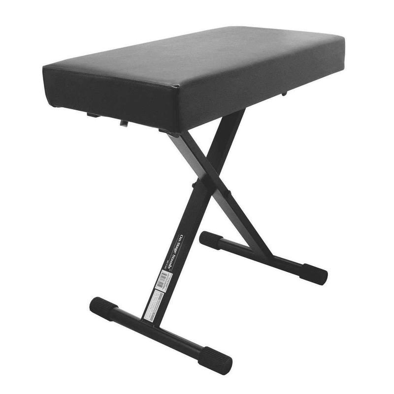 On-Stage Stands KT7800+ Deluxe X-Style Bench Keyboard Benches On Stage