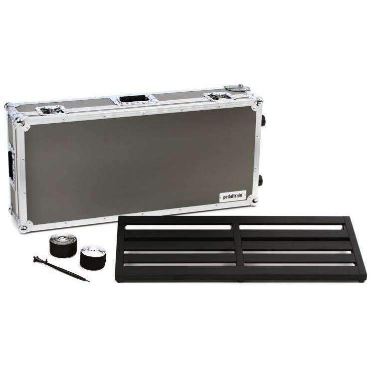"Industrie Music,Pedaltrain Novo 32 32""x14.5"" Pedalboard with Wheeled Tour Case"