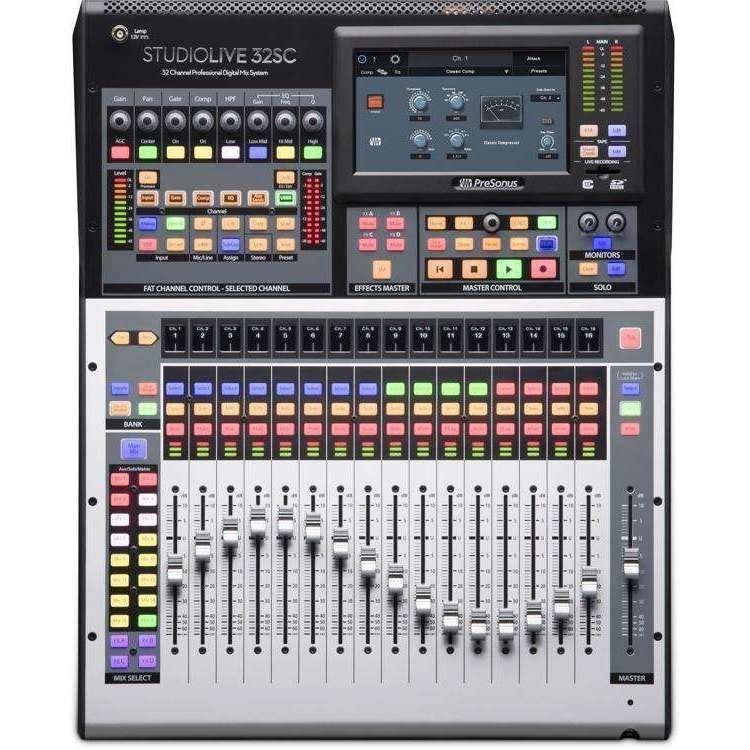 PreSonus StudioLive 32SC 32-channel Rackmount Digital Mixer Digital Mixers Presonus