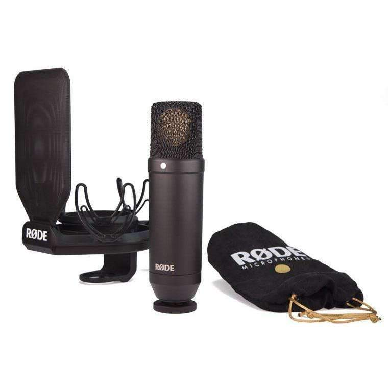 "Rode NT1 1"" Cardioid Condenser Microphone with SMR Shock Mount"