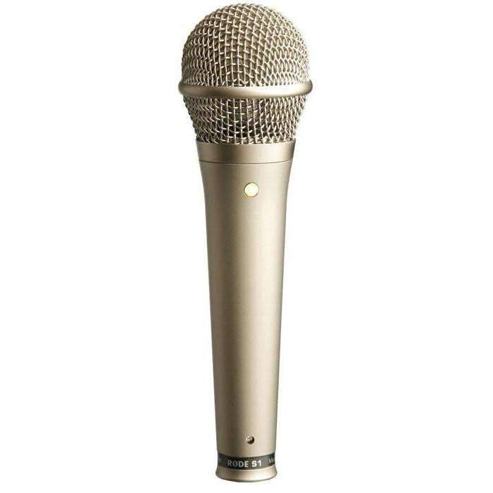 Rode S1 Live Condenser Vocal Microphone (Satin-Nickel) Condenser Microphones Rode