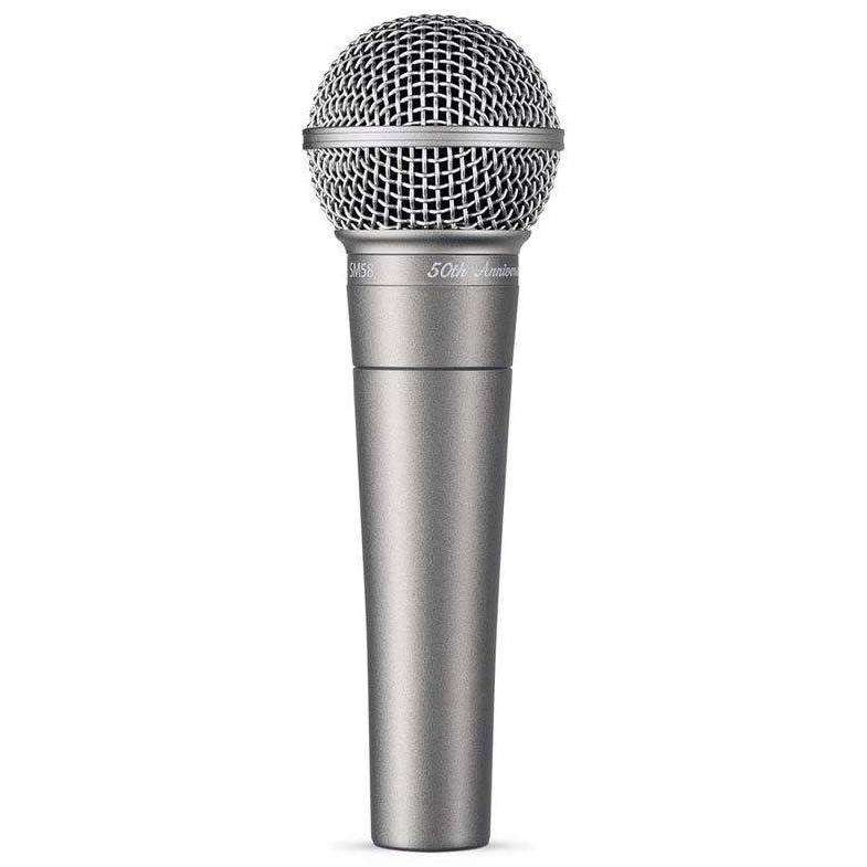 "Shure Shure SM58-50A ""50th Anniversary"" Vocal Microphone - Industrie Music"