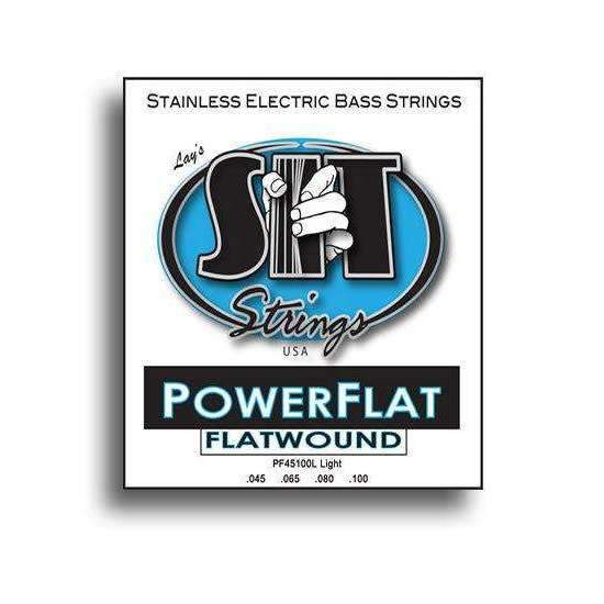 SIT Strings SIT Power Flat Flatwound Light Electric Bass String Set (45-100) - Industrie Music