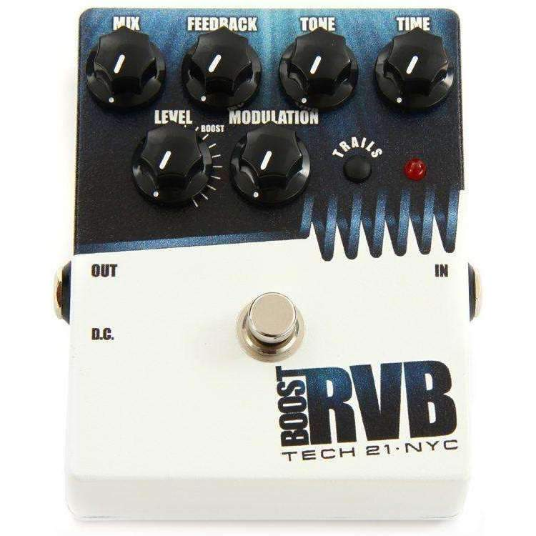 Industrie Music,Tech 21 Boost R.V.B. Reverb Pedal with Boost