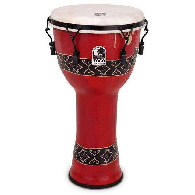 "Toca Freestyle Series Mech Tuned Djembe 10"" in Bali Red Djembes Toca"