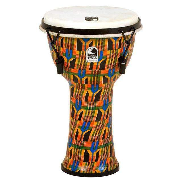 "Toca Freestyle Series Mech Tuned Djembe 9"" in Kente Cloth Djembes Toca"