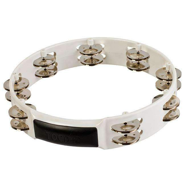 "Toca Players Series 10"" PVC Shell Tambourine with Double Nickel Plated Jingles Tambourines Toca"