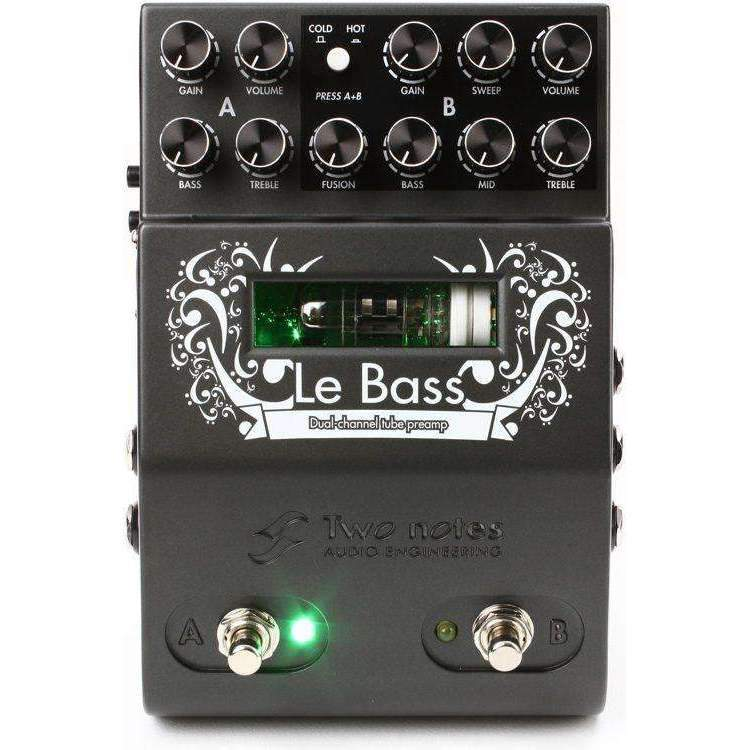Two Notes Le Bass - 2-channel Tube Bass Preamp Bass Guitar Pedals & Effects Two Notes
