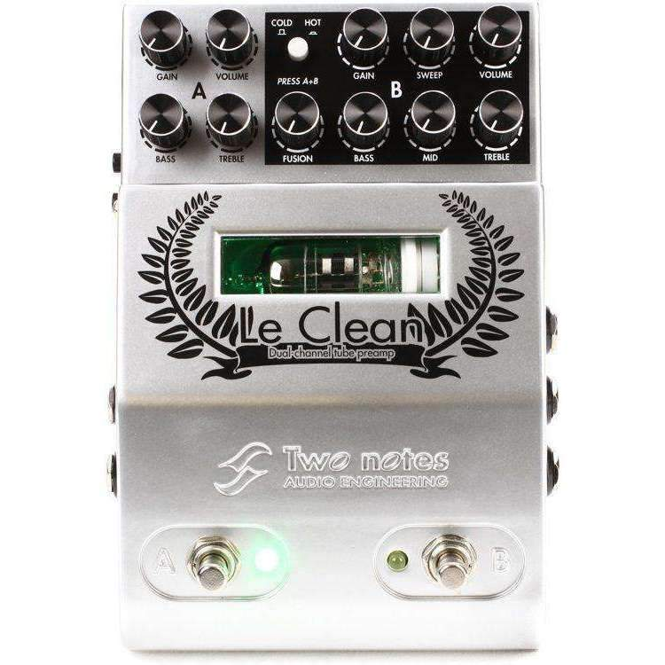 Industrie Music,Two Notes Le Clean 2-channel U.S. Tones Tube Preamp Pedal