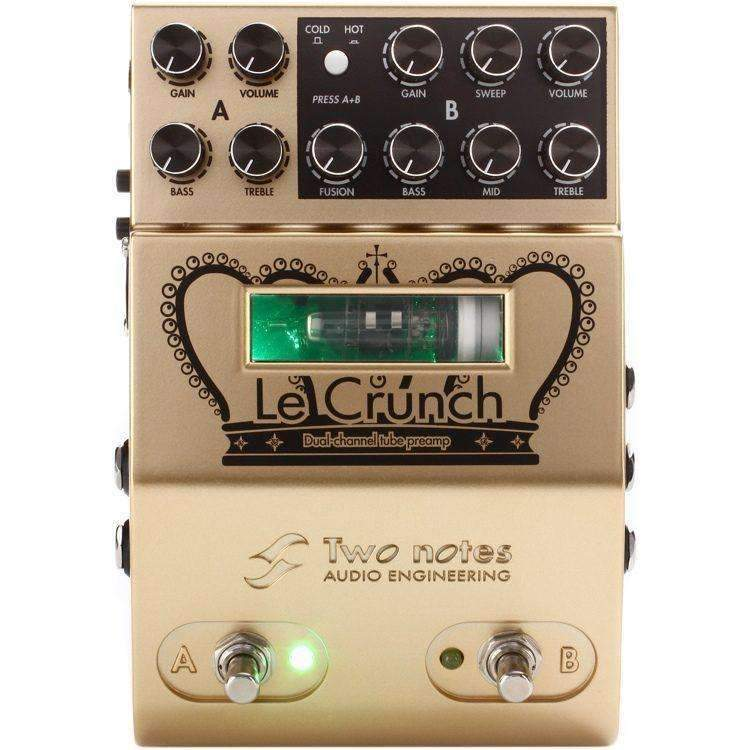 Two Notes Le Crunch 2-channel British Tones Tube Preamp Pedal Attenuators & Simulators Two Notes