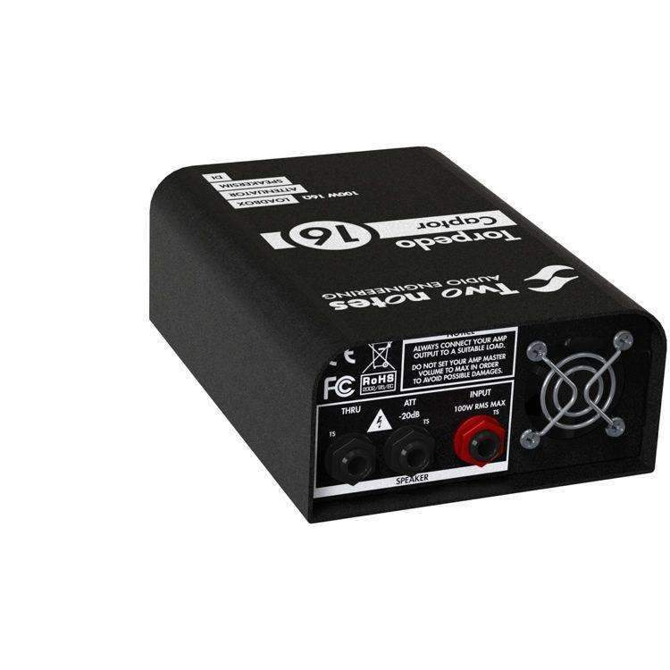 Industrie Music,Two Notes Torpedo Captor Reactive Loadbox DI and Attenuator - 16 ohm