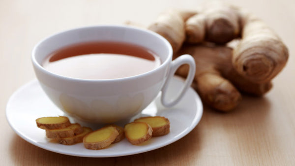 Ginger tea with white cup