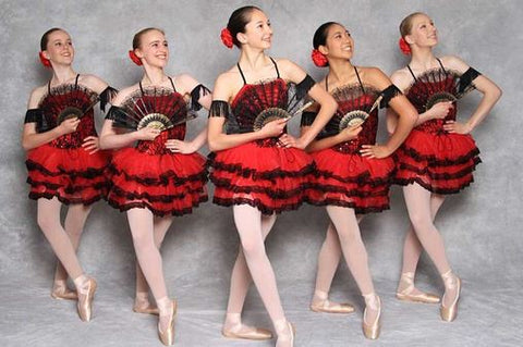 ballet class girls in red