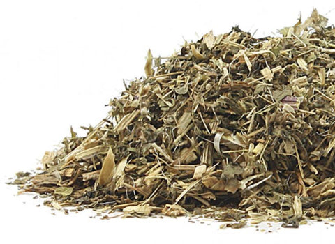 pile of blessed thistle loose leaf herb