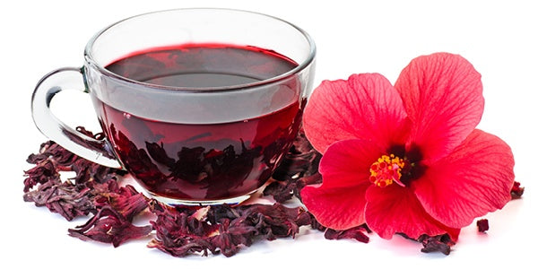 hibiscus tea with flower