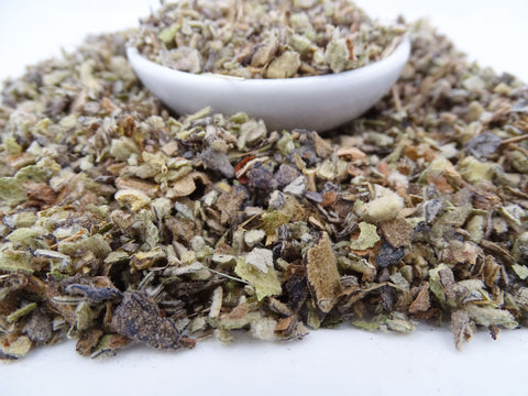Mullein tea close up
