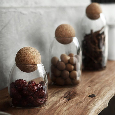 Easy Life Round Cork Jar, Jar Tea Life