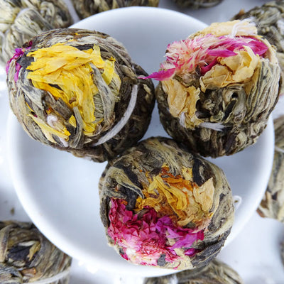 Mango Drops Infused Blooming Flower Tea, Scent Of Asia Tea Life