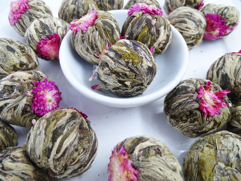 Rose Red Infused Blooming Flower Tea, Scent Of Asia Tea Life