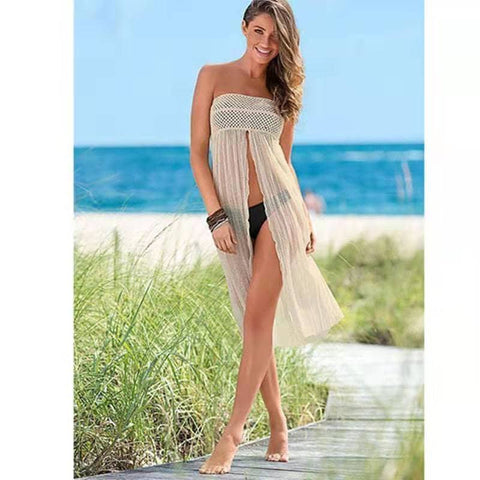 #CU20192 Multi-way Crochet Cover Up