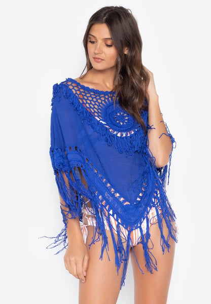 #CU20194 Bohemian Tassel Cover Up