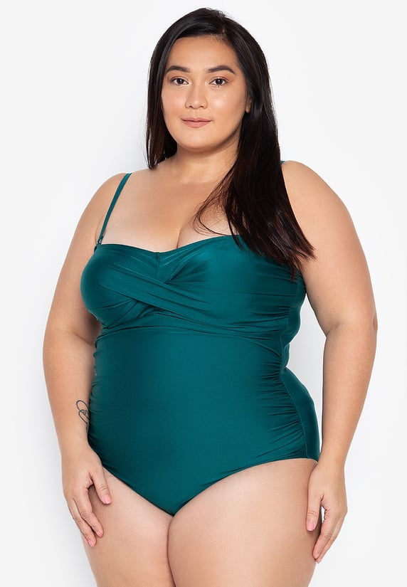 #18024 Plus Size Twisted Monokini