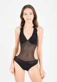 (043) Knitted Monokini with Belt
