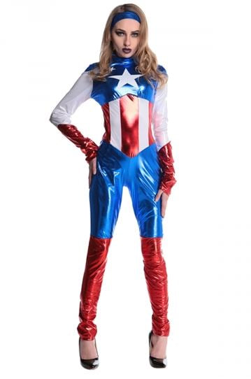 #FE329 Captain America Women Costume