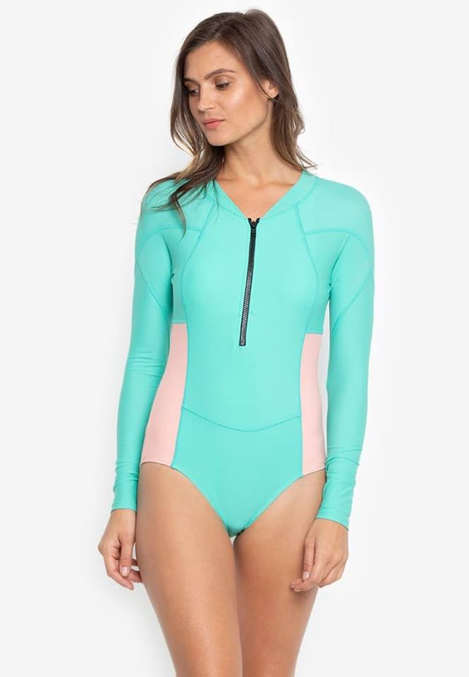#FLB-090 Long Sleeve Zipped One Piece Rashguard