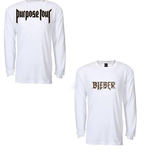 ATLBIEBUR design Bieber leopard White Long Sleeve t-shirt Purpose Tour