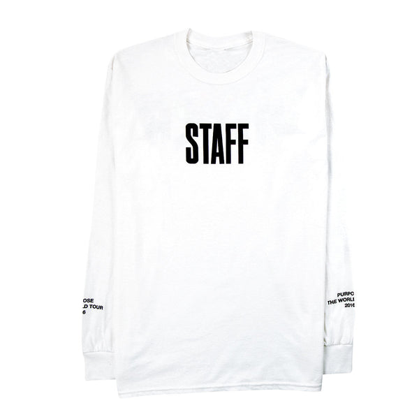 STAFF White Long Sleeve t-shirt CAMO Purpose Tour