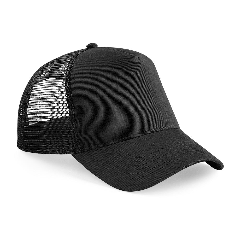 Black Mesh Trucker Cap as worn by Justin