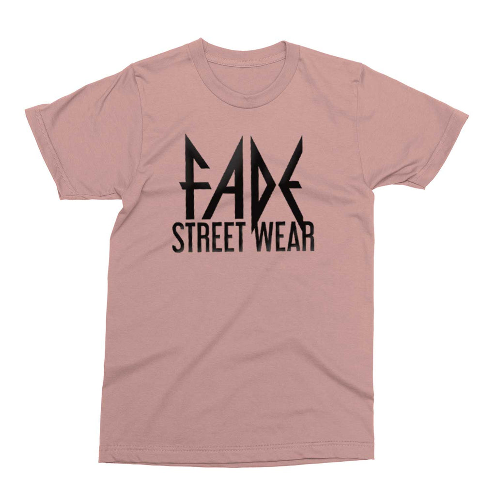 FADE STREET WEAR logo Dusty Pink Crew T-Shirt