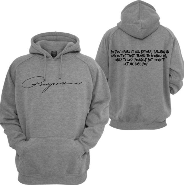 @NoXPressure Designs Purpose Mark My Words Lyrics Grey Hoodie