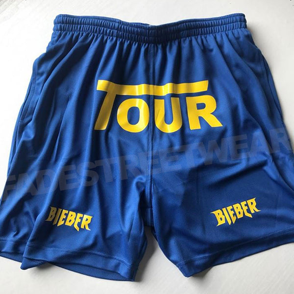 Bieber Tour - Sport shorts - ROYAL BLUE