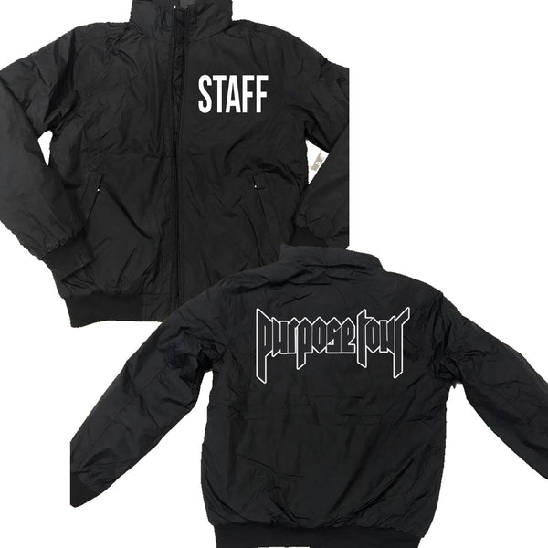 STAFF Purpose Tour Bomber Jacket - Black