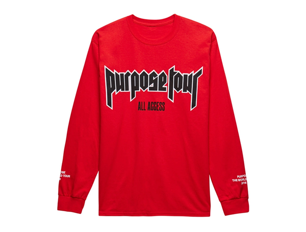 Purpose Tour All Access Red Long Sleeve shirt