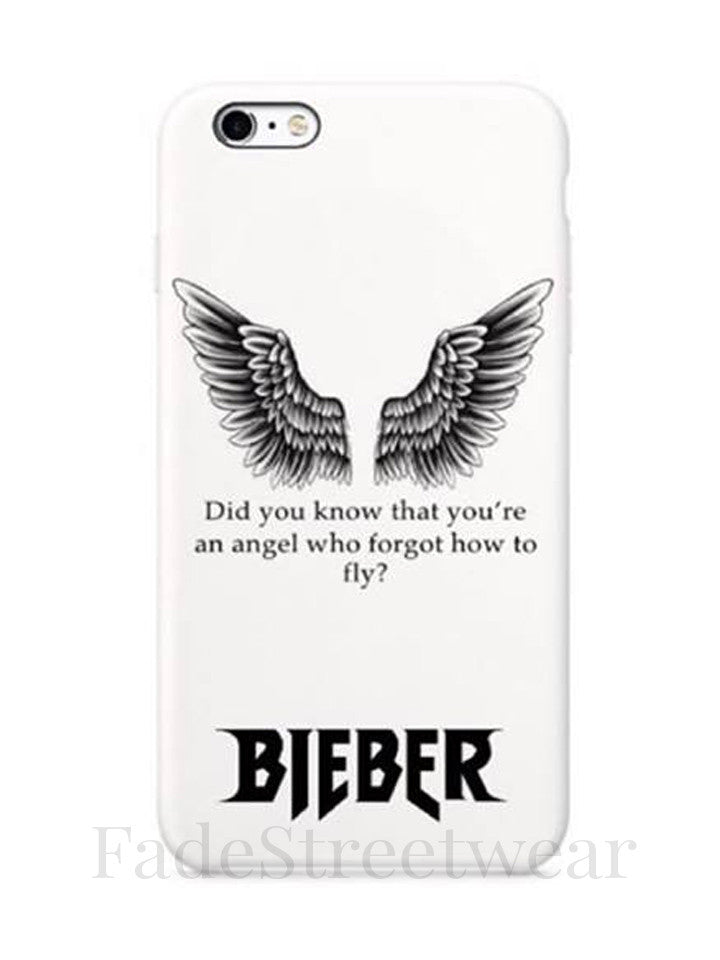 JERRYSCROWN design -Angel Wings Quote Phone Case