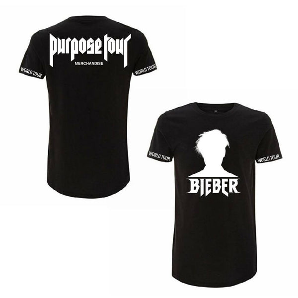 ATLBIEBUR designs Purpose Tour Merchandise - Bieber Silhouette BLACK T-Shirt